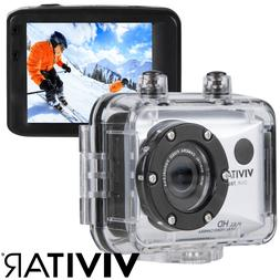 12.1 MP 1080p HD Video Action Camera Remote Underwater-Rated