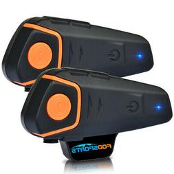 2pcs BT-S2 Intercom Motorcycle Bluetooth Headset 3 Riders Mo