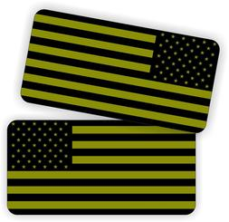 OD Green American Flag Hard Hat Stickers | Motorcycle Helme