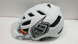Troy Lee Designs A1 MIPS Classic Bike Helmet White/Black Siz