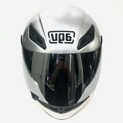 AGV K4 Evo E2205 Motorcycle Helmet Solid Silver with Extra V
