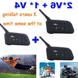 BT Motorcycle Helmet Intercom Interphone Headset Football 3