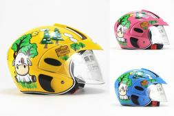 Cute Children Motocross Motorcycle Helmet Comfortable Safety