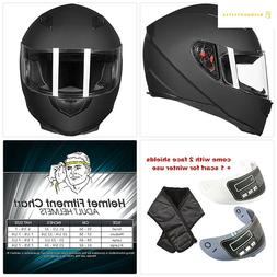ILM Full Face Motorcycle Street Bike Helmet with Removable W