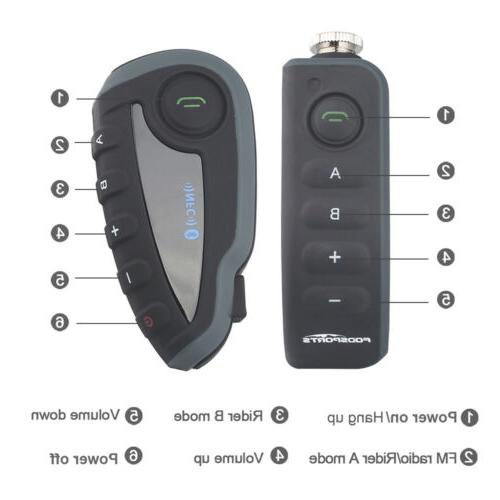1000m V8 Bluetooth Motorcycle 5 Riders