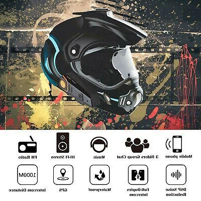 Yideng Helmet Headset Wireless Intercom Interphone