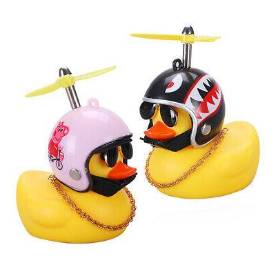 Cute Helmet Propeller Duck Kids Bicycle Handlebar Bell HOT
