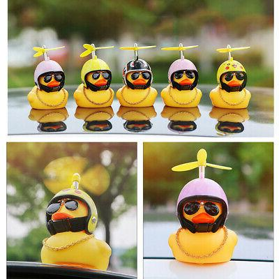 Cute Helmet Propeller Duck Kids Bell Light Lamp HOT