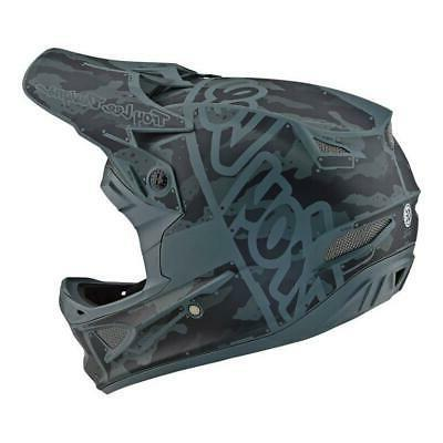 Troy Lee Designs Fiberlite Factory Matte Camo Green Sizes