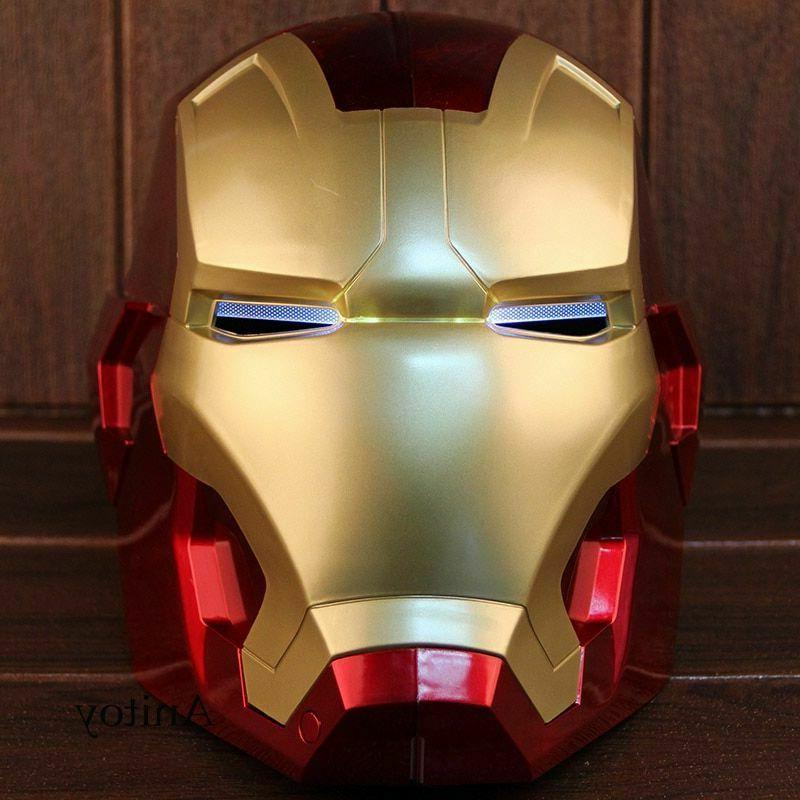 Iron Motorcycle Cosplay Mask Touch Mask with LED Li