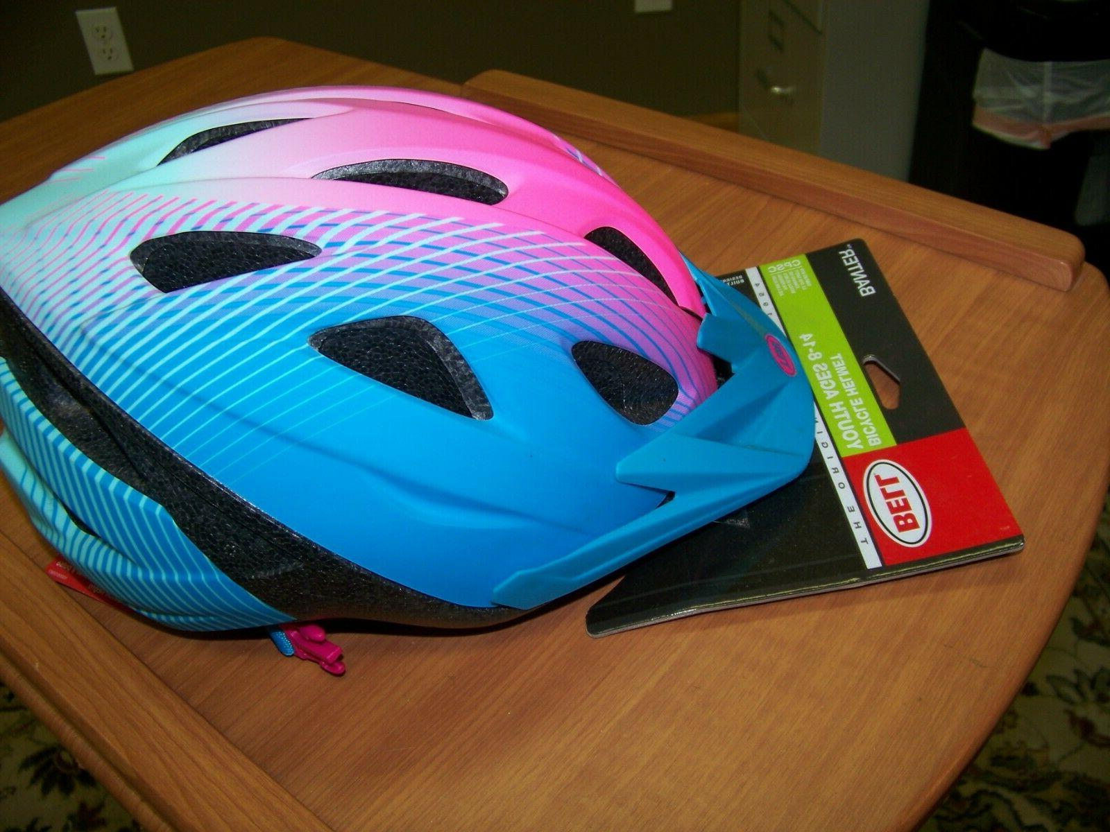 NEW!! Bell Banter Bike Bicycle Helmet visor and safety lights- Ages 8-14