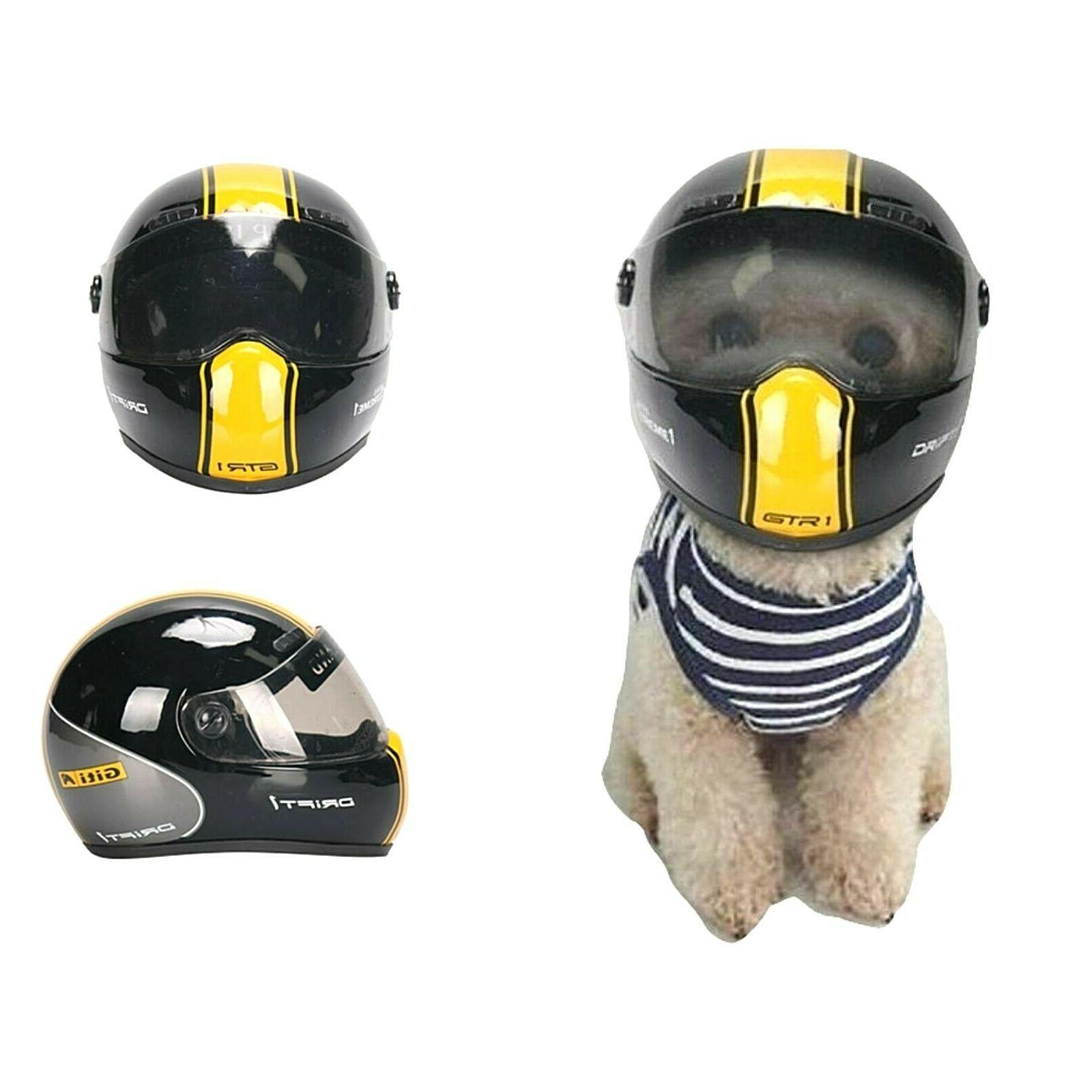 small motorcycle safety helmet for pet cat