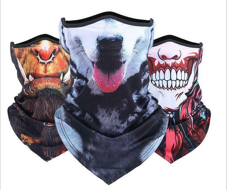 summer half face cover cycling motorcycle neck