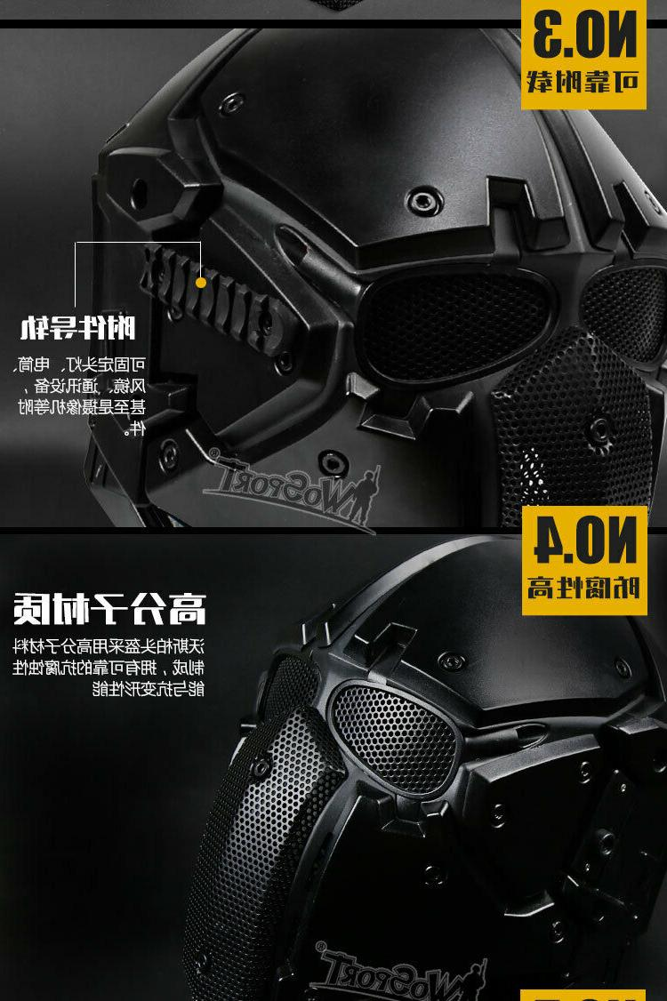 wosport Tactical Full Protective Breathable Mask