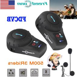 Motorcycle Helmet Bluetooth Intercom Headset Motorbike Inter
